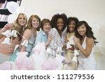 portrait of female group...   Shutterstock . vector #111279536