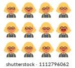 set of cute girl character in... | Shutterstock .eps vector #1112796062