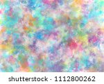 abstract watercolor digital art ... | Shutterstock . vector #1112800262