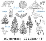 forest adventure collection ... | Shutterstock .eps vector #1112806445