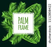 green palm branches in various... | Shutterstock .eps vector #1112808422