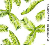 palm seamless pattern. exotic... | Shutterstock .eps vector #1112808998