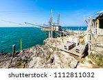 trabucco of mimi near peschici  ...   Shutterstock . vector #1112811032