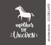 cute cards with unicorn... | Shutterstock .eps vector #1112811455