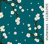 white plum blossom flower on... | Shutterstock .eps vector #1112812925
