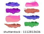 abstract acrylic color brush... | Shutterstock . vector #1112813636