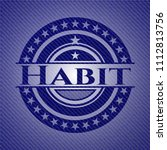 habit emblem with jean... | Shutterstock .eps vector #1112813756