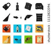 the detective's flashlight... | Shutterstock .eps vector #1112822096