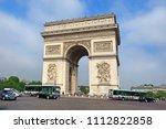paris  france  24 may 2018  arc ... | Shutterstock . vector #1112822858