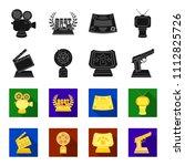 gold pistol  silver prize for...   Shutterstock .eps vector #1112825726