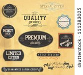 premium quality and guarantee... | Shutterstock .eps vector #111283025
