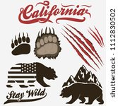 california bear  grizzly... | Shutterstock .eps vector #1112830502
