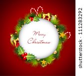 merry christmas greeting cards. ... | Shutterstock .eps vector #111283292