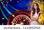 collage of casino images with... | Shutterstock . vector #1112832965