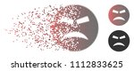 vector furious smiley icon in... | Shutterstock .eps vector #1112833625
