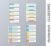 infographic vector set.... | Shutterstock .eps vector #1112833982
