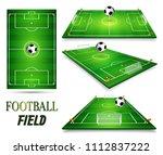 football field  soccer field...   Shutterstock .eps vector #1112837222