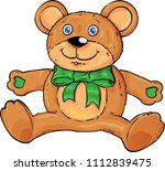 cute teddy bear isolated on... | Shutterstock .eps vector #1112839475