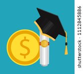 investment in education concept.... | Shutterstock .eps vector #1112845886