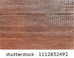 old red brick wall background... | Shutterstock . vector #1112852492