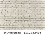 old white brick wall background ... | Shutterstock . vector #1112852495