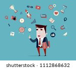marketing specialist with... | Shutterstock .eps vector #1112868632