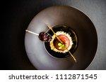 Dessert  Black  Plate  Elegant...