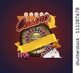 vector casino icon. includes... | Shutterstock .eps vector #111287678
