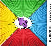 comic vs light template with...   Shutterstock .eps vector #1112877206