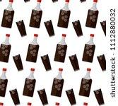liquor prort bottle and glass...   Shutterstock .eps vector #1112880032