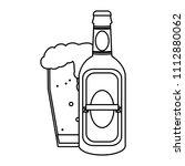 line liquor schnapps bottle and ...   Shutterstock .eps vector #1112880062