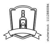 line schnapps liquor bottle...   Shutterstock .eps vector #1112880086