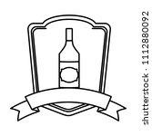 line schnapps liquor bottle...   Shutterstock .eps vector #1112880092