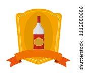 schnapps liquor bottle beverage ...   Shutterstock .eps vector #1112880686