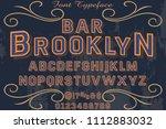 classic vintage decorative font ... | Shutterstock .eps vector #1112883032