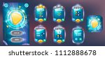 galaxy cartoon game assets set... | Shutterstock .eps vector #1112888678