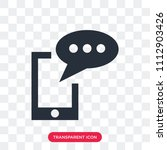 sms vector icon isolated on... | Shutterstock .eps vector #1112903426