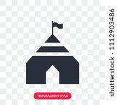 tent vector icon isolated on...   Shutterstock .eps vector #1112903486