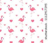 pink flamingo seamless pattern. ...   Shutterstock .eps vector #1112917295