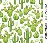 mexican cactus seamless pattern ... | Shutterstock .eps vector #1112920265