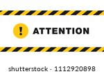 attention sign between black... | Shutterstock .eps vector #1112920898