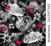 abstract seamless sport pattern ... | Shutterstock . vector #1112927162