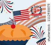 food american independence day   Shutterstock .eps vector #1112930075