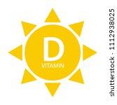 vitamin d sun sign icon. vector ... | Shutterstock .eps vector #1112938025