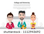 picture of group of students in ... | Shutterstock .eps vector #1112943692