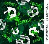 abstract seamless football... | Shutterstock . vector #1112949272
