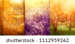 set of three template for card... | Shutterstock .eps vector #1112959262