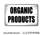 organic product engraving style ... | Shutterstock .eps vector #1112959988