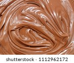 Small photo of Melted chocolate swirl / melting chocolate/ chocolate swirl