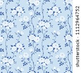 seamless floral blue background ...   Shutterstock .eps vector #1112964752